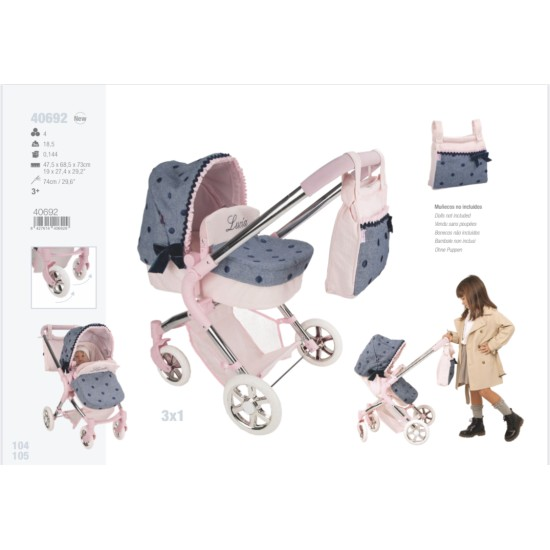 Arias Lucia Pram and Stroller 3x1 (over 3's)