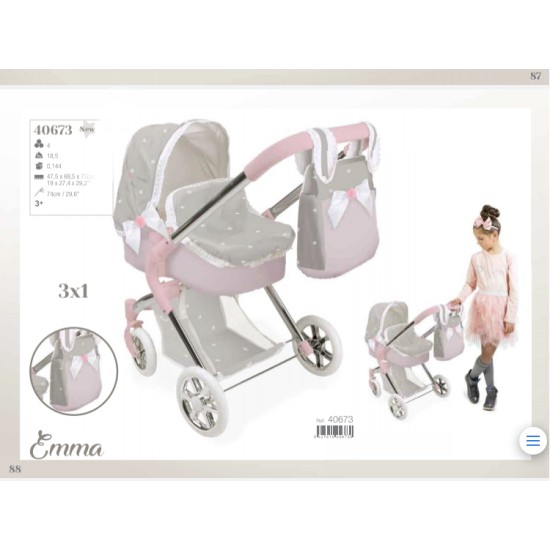 Arias Emma Pram and Stroller 3x1 (over 3's)