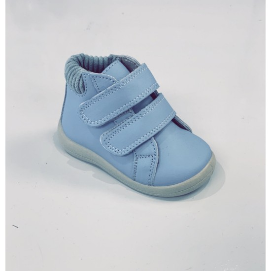 Jamie Blue Leather Boot