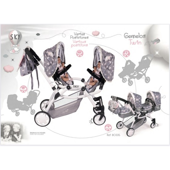 Multi Position Twin Pram