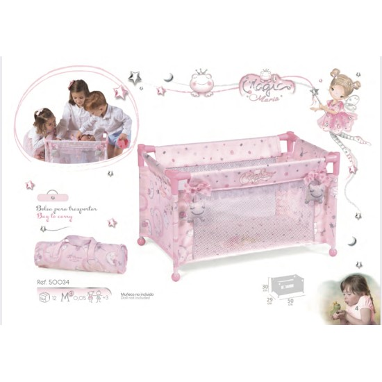 Pink Travel Cot (Maria)