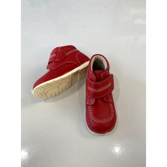 A374 Red Leather Boot