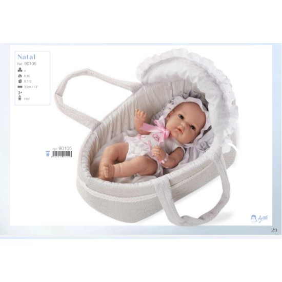 Rosa in Moses Basket